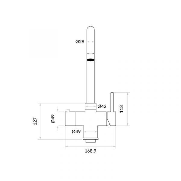 Asprey Matt Black & Nexus Noir 3-1 Swan Instant Boiling Water Tap