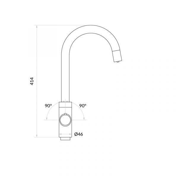 Elite Matt Black & Luxe Noir 4-1 Swan Instant Boiling Water Tap