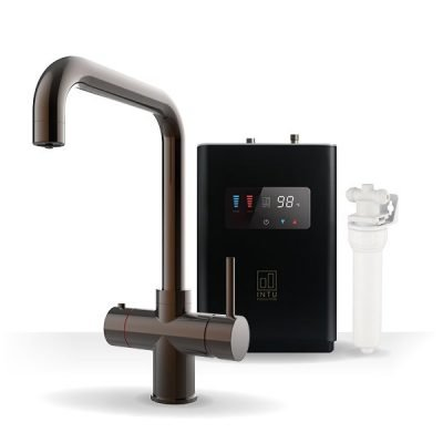 Expression Gunmetal & Luxe Noir 3-1 Square Instant Boiling Water Tap