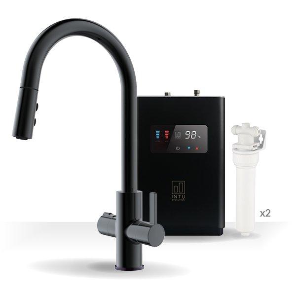 Form Matt Black & Luxe Noir 4-1 Pull Down Spray Instant Boiling Water Tap