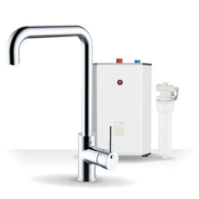 Urban Chrome & Solo White 3-1 Square Instant Boiling Water Tap