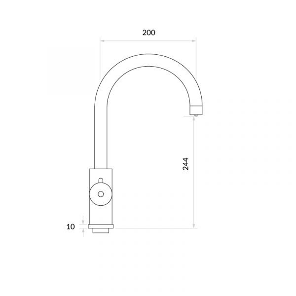 4OUR Gunmetal & Apex 4-1 Swan Instant Boiling Water Tap