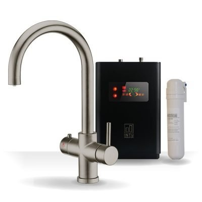 4OUR Brushed Nickel & Apex 4-1 Swan Instant Boiling Water Tap