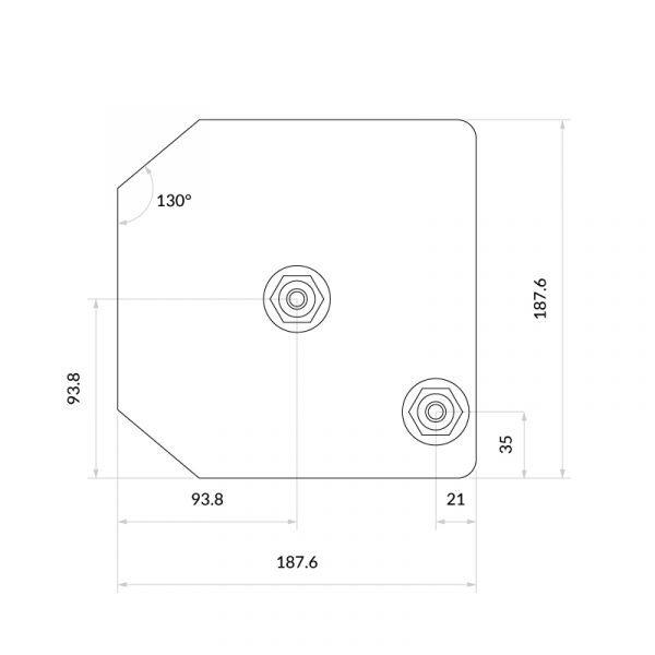 Urban Chrome & Solo Noir 3-1 Square Instant Boiling Water Tap