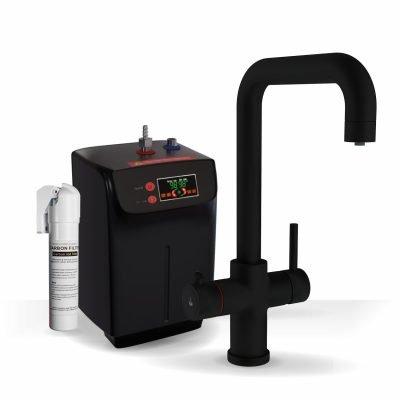 Profile Matt Black 3-1 Square Instant Boiling Water Tap