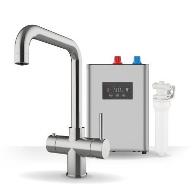 Expression Chrome & Digital Tank 3-1 Square Instant Boiling Water Tap