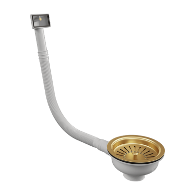 INTU Gold Basket strainer with Rectangular overflow