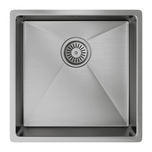 INTU Single 1 Bowl Inset or Undermounted Brushed Stainless Finish Kitchen Sink