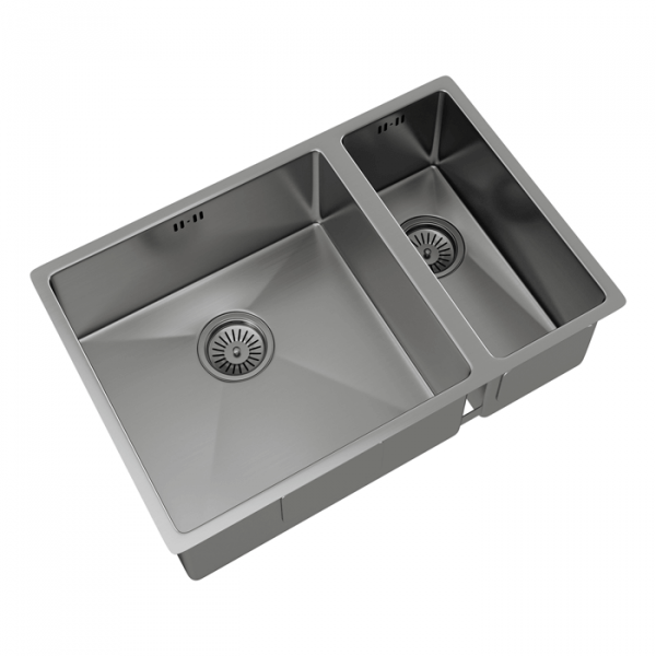 INTU 1.5 Bowl Inset or Undermounted Brushed Stainless Finish Kitchen Sink