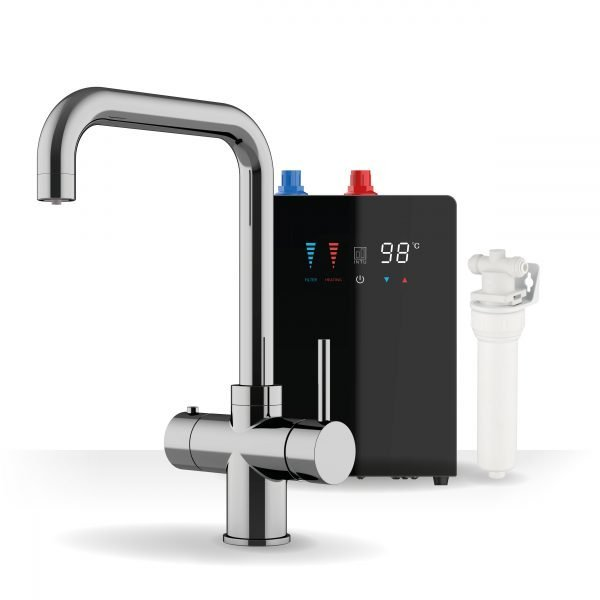 Expression Chrome & Nexus Noir 3-1 Square Instant Boiling Water Tap