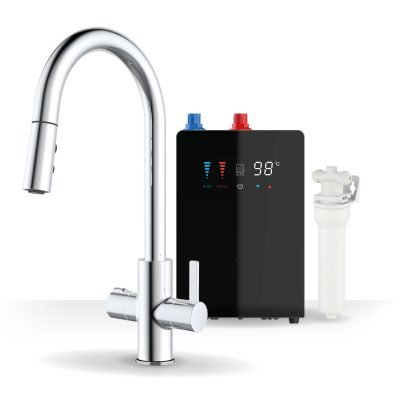 Form Chrome & Nexus Noir 4-1 Pull Down Spray Instant Boiling Water Tap